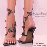 Apple May Designs - Blossom Heels - Black (wear to unpack)
