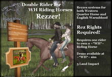 ~*WH*~ QH and WB Double Rider Rezzer