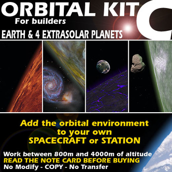 Orbital kit C: space environment generator - Earth & 4 extrasolar planets.
