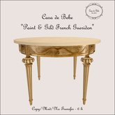 {CdB} Paint & Gild French Gueridon with Marble Top