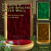 Paladin's Color Spectrum Water Wall Fountain - GOLD