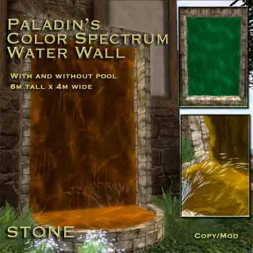 Paladin's Color Spectrum Water Wall Fountain - STONE