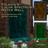 Paladin's Color Spectrum Water Wall Fountain - WOOD