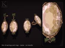 (Kunglers) Luiza earrings - Agate