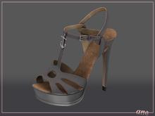 A N E Shoes - NYE Heels ASH GREY