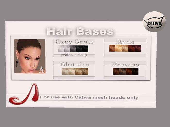 Analog Dog - Catwa Hairbase A - grey scale