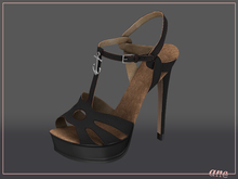 A N E Shoes - NYE Heels ONYX BLACK