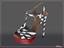 A N E Shoes - NYE Heels NAUTICAL