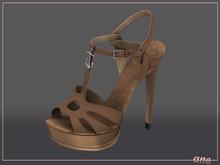 A N E Shoes - NYE Heels COFFEE