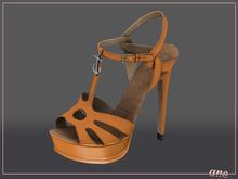 A N E Shoes - NYE Heels ORANGE