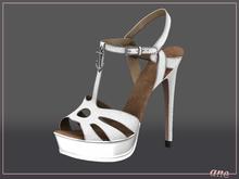 A N E Shoes - NYE Heels PEARL WHITE