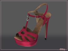 A N E Shoes - NYE Heels RASPBERRY