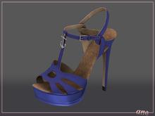 A N E Shoes - NYE Heels ROYAL BLUE