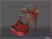 A N E Shoes - NYE Heels RUBY RED