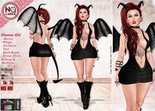 :: No Cabide :: Demon Girl_ Outfit FitMesh - Happy Halloween!
