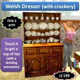 Welsh dresser (with crockery) one prim