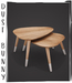 dust bunny . dipped nesting tables