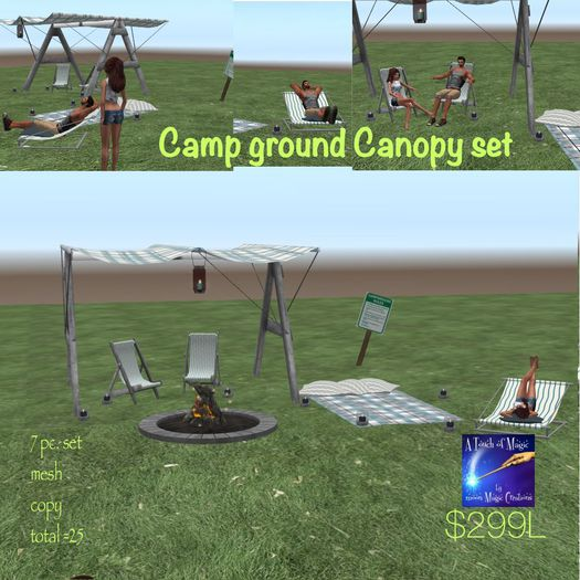 Camp Ground Canopy set -Crate