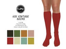 ChiMia:: 60s Vintage Knee High Socks (Standard, Slink, Maitreya, Omega)