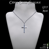 Chain Cross Necklace (Mesh Version)