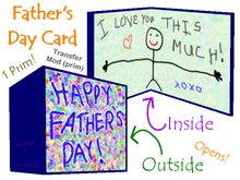 *Timeless Child* Openable Father's Day Card!