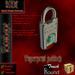 KDC Fingerprint padlock