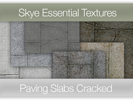 *Skye Essential Textures - 48 Paving Slab Cracked -  Full Perms Sidewalk Textures