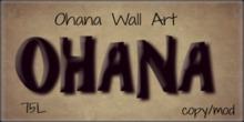 Ohana Wall Art(Bagged)