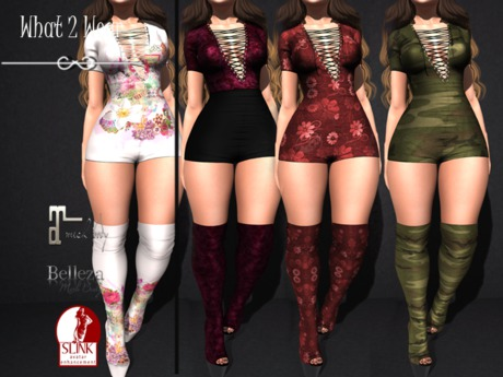 .::.What2Wear.::. Romper /Boots-Stamped