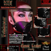 KDC Classic leather muzzle