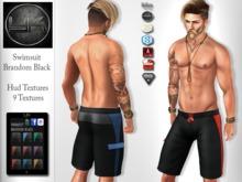 YACK - Mens MESH Swimsuit Brandom Black