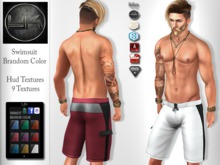 YACK - Mens MESH Swimsuit Brandom Color