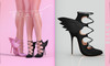 [BREATHE]-Raven Heels-Black-(for Slink High Feet & Maitreya Lara & Belleza)