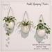 {what next} Wall Hanging Plants  - Set of 3