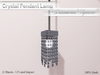 "*ALUORA* Crystal Pendant Lamp ""Diamond Square""  - Builders Edition"
