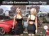 [S] Lydia Gemstones Strappy Dress Black