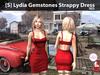[S] Lydia Gemstones Strappy Dress Red