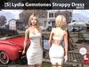 [S] Lydia Gemstones Strappy Dress White