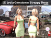 [S] Lydia Gemstones Strappy Dress Green