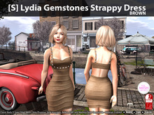 [S] Lydia Gemstones Strappy Dress Brown