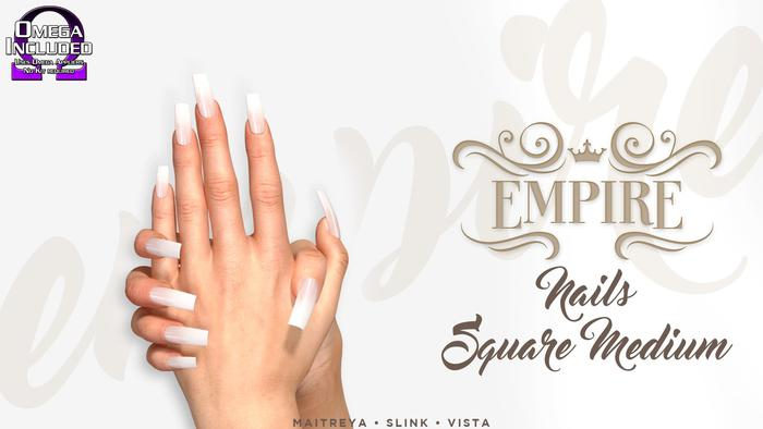 #EMPIRE - Square Nails - Medium