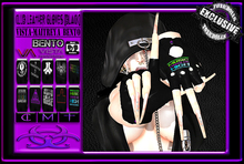 [TD] Club [BLACK] Leather Gloves [F/VISTA-MAITREYA-BENTO]