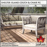 Trompe Loeil - Shelter Island Couch & Chair PG [mesh]