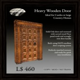 Heavy Oak Door with Carved Wooden Fleur Panels  [COPY]
