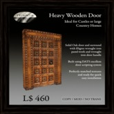 Heavy Oak Door with Filigree Wrought Iron Panels   [COPY]