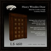 Heavy Mahogany Door with Bronze Rose Inlay  [COPY]