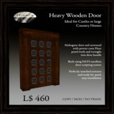 Heavy Mahogany Door with Caste Pewter Fleur Panels   [COPY]