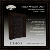 Heavy Black Wood Door with Caste Pewter Fleur Panels   [COPY]
