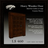 Heavy Mahogany Door with Filigree Wrought Iron Panels   [COPY]