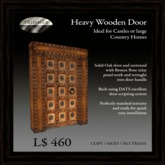 Heavy Oak Door with Bronze Rose Inlay   [COPY]